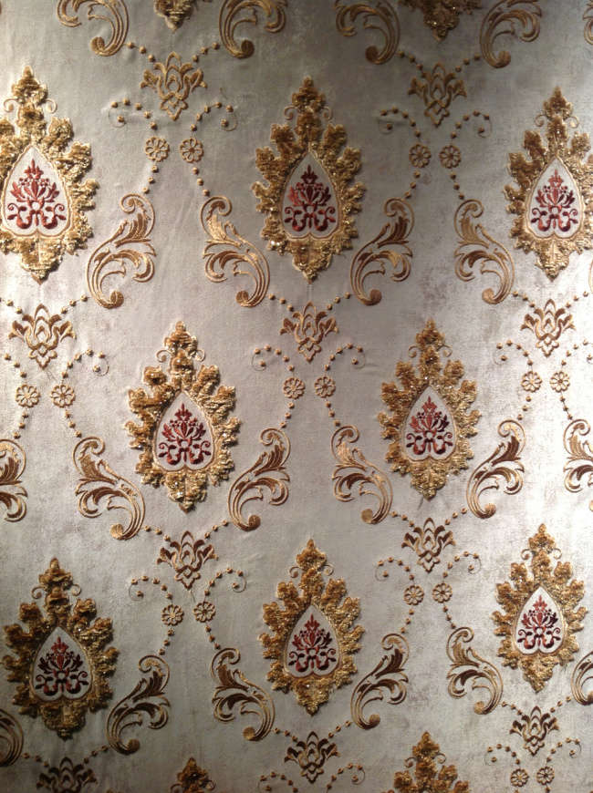 高端欧式风格无缝墙布,3D立体背景墙壁布,免胶无缝墙布
