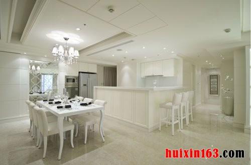 纯白色的简欧家居装饰设计