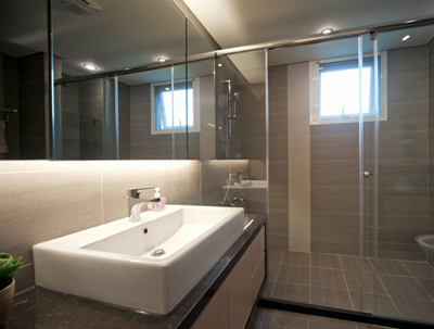 小户型卫浴间装修装饰的色彩搭配技巧(1)
