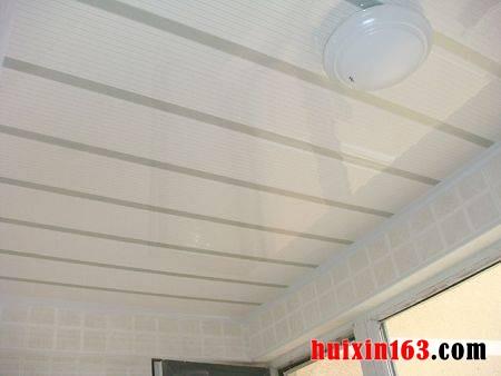 选用塑钢板,进行室内装修装饰吊顶