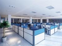 简洁实用现代办公室龙8国际pt老虎机效果图 (3)