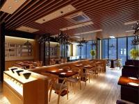 现代中式餐厅设计效果图 (3)