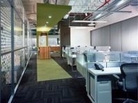 现代时尚办公室龙8国际pt老虎机设计效果图 (3)