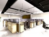 时尚办公区龙8国际pt老虎机设计效果图 (3)