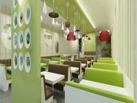 时尚餐厅龙8国际pt老虎机设计效果图 (3)