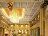 清新奢华办公楼大厅装修设计效果图 (3)