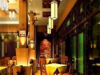 现代中式餐厅龙8国际pt老虎机设计效果图 (3)