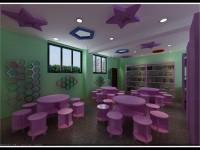 靓丽图书馆装修效果图 (3)