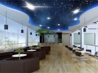 现代时尚咖啡厅龙8国际pt老虎机效果图 (3)