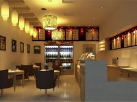 时尚前卫咖啡厅龙8国际pt老虎机效果图 (3)