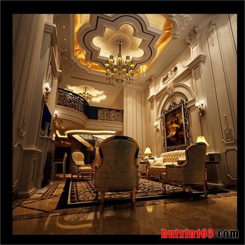 设计风格上,欧式古典风格新古典主义流派别墅装修装饰等家装,和办公室
