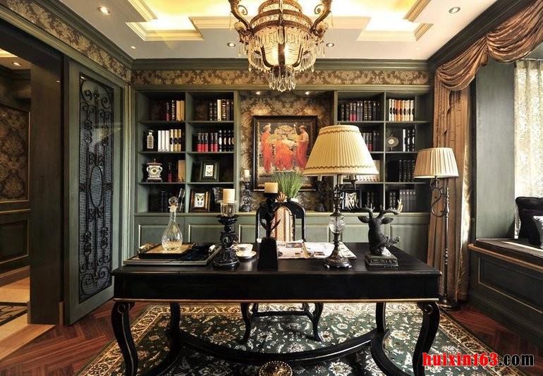 3 美式古典风格书房装修装饰