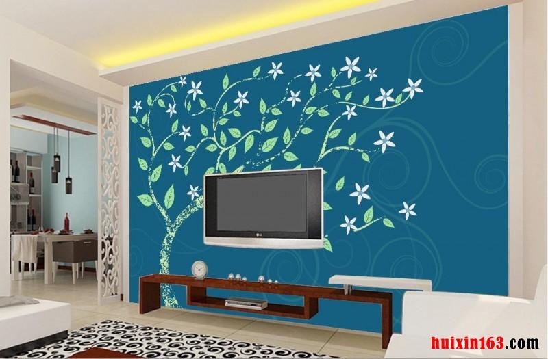 室内装修装饰电视背景墙手绘艺术设计(2)