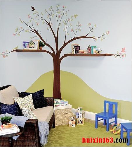 各种各样的动物成为了室内装修装饰中儿童手绘墙画或壁画的主角,这也