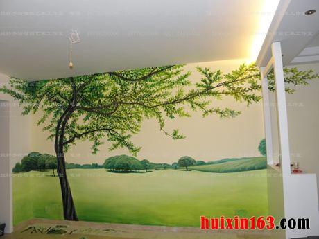 1 自然风景手绘墙画