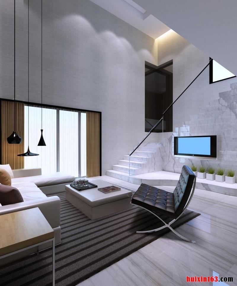 色彩设计,在现代极简风格室内装修装饰中,要表现出强烈的对比性
