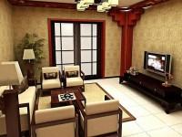科亚小区新中式家庭装修装饰效果图 (7)